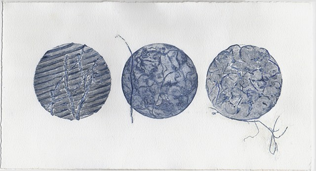 printmaking, collagraph, landscape, organic
