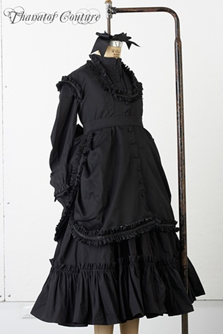 Historical Costume: Victorian Mourning Children's Wear.
