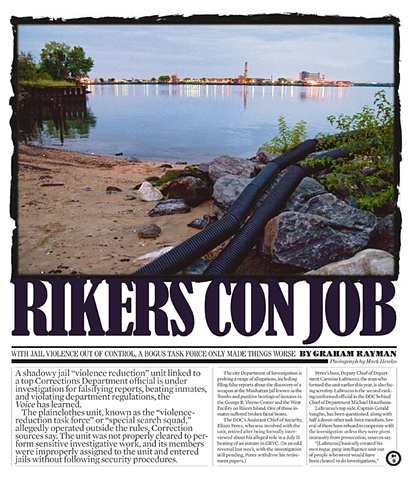The Village Voice Rikers Con Job