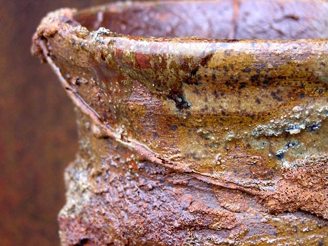 Lidded Jar with Texture Glaze by Tom Szmrecsanyi