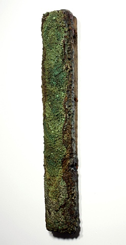 Clay, Glaze, Bee's Wax, and Wood Sculpture by Tom Szmrecsanyi