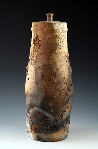Saggar-Fired Jar by Tom Szmrecsanyi