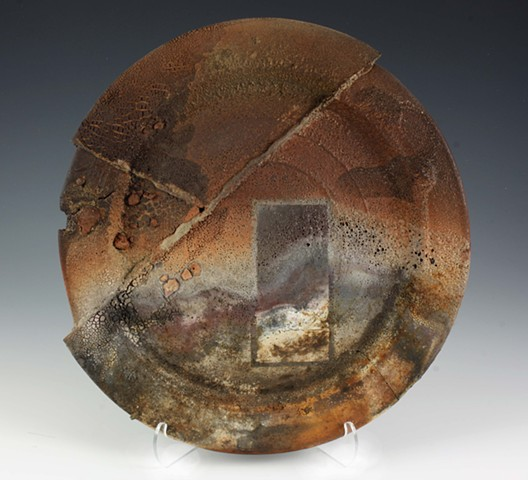 pottery, saggar fired by Tom Szmrecsanyi