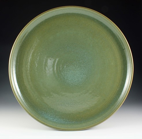 Large Stoneware Platter By Tom Szmrecsanyi