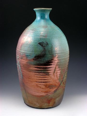 Raku Bottle Form by Tom Szmrecsanyi