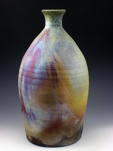 Raku Bottle Form by Tom Szmrecsanyi