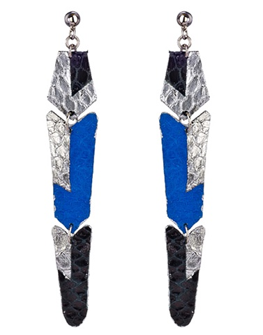 Rex Earrings Holy Harlot Jewelry Colorblock Snakeskin