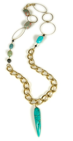 Holy Harlot Jewelry Turquoise Horn Necklace