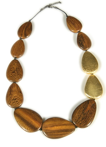 HOLY HARLOT JEWELRY PEBBLE WOOD NECKLACE