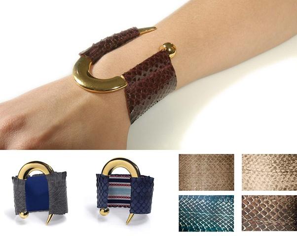 Holy Harlot Jewelry Signature Snakeskin Cuffs Authentic Python Holy Harlot Jewelry Handmade NYC