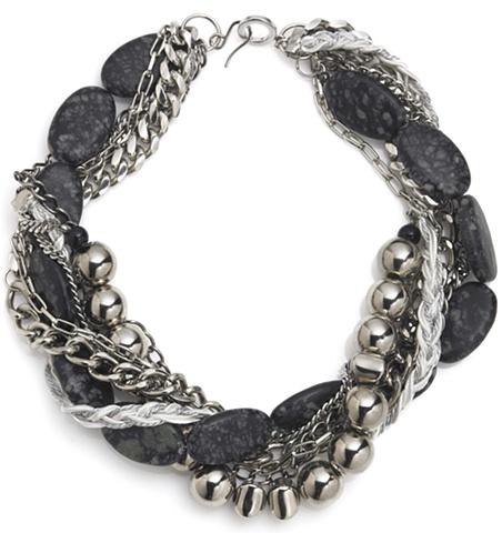Holy Harlot Jewelry Jasper Twist Swirl Choker Zebra Silver MultiChain Braid Leather Holy Harlot Jewelry Urban Eclectic Edgy