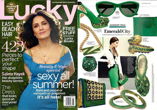 Holy Harlot Jewelry Lucky Magazine Balenciaga Inlay ID Necklace Snakeskin