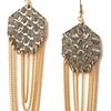 GEM EARRINGS Taupe Foil Snakeskin