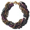 JASPER TWIST CHOKER Gray Purple