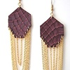 GEM EARRINGS Mauve Snakeskin