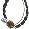 TEAROOM NECKLACE Gilt & Black Agate