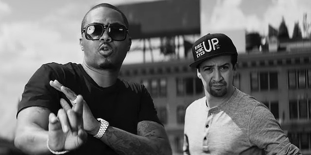 "Hamilton Mixtape ""Wrote My Way Out"" Nas Lin-Manuel Miranda, Aloe Blacc and Dave East"