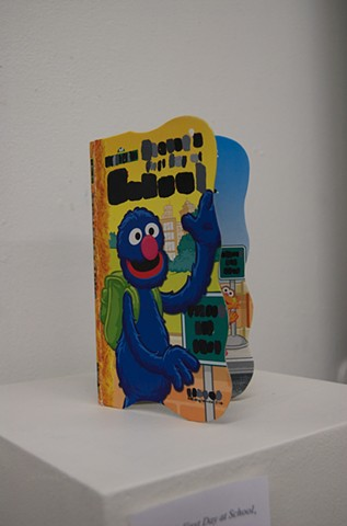 Grover's First Day at School,  by Heather Au Acrylic on board book