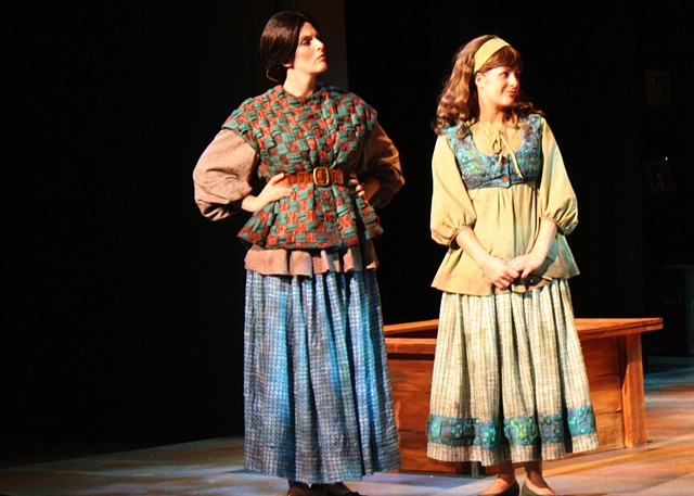 Alison Plott and Mary Candler as Leah and Rachel.