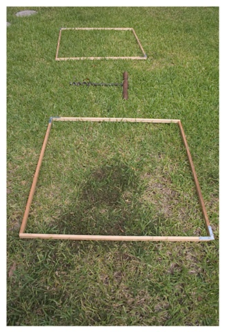 "30""x30"" wooden frames and auger."