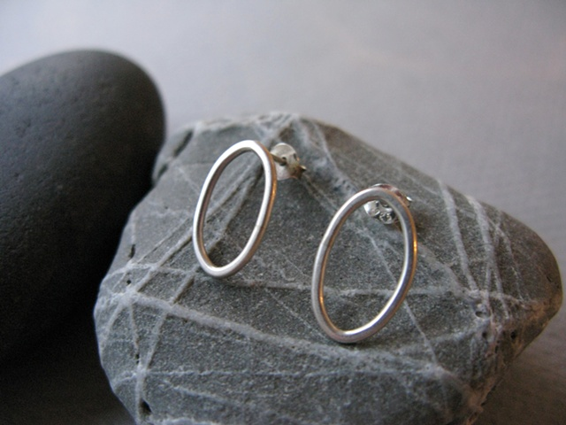 small oval earrings