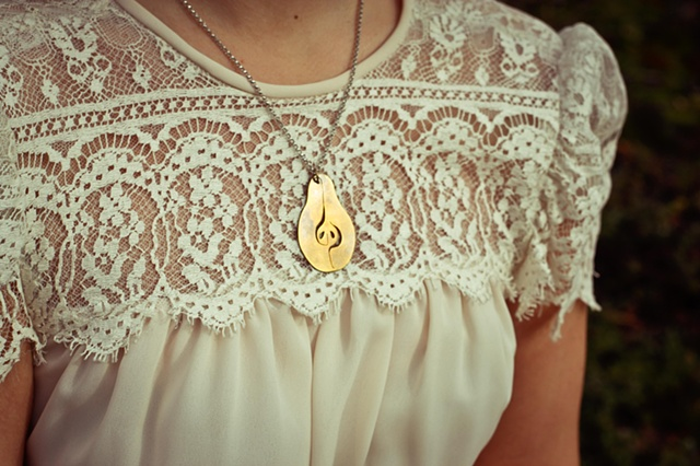 pear pendant necklace