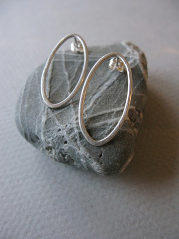large oval earrings