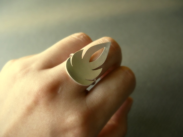 silver flame ring