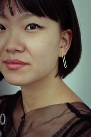 brass post earrings