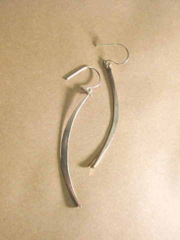 sliver of moon earrings