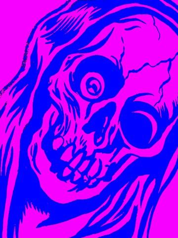 skull butthole art photo shop