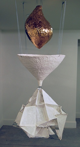 your gold earthenware, terra sigillata, gold luster, wire, paper