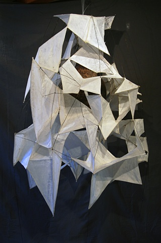 penumbra earthenware, wire, paper