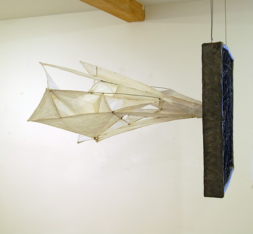untitled Earthenware with terra sigillata, wire, paper