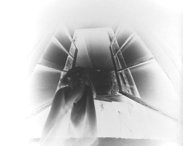 Elise Sprunt (negative on paper) 160 degree wide angle pinhole camera 1999