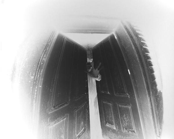 Scott McMahon (negative on paper) 160 degree wide angle pinhole camera 1999