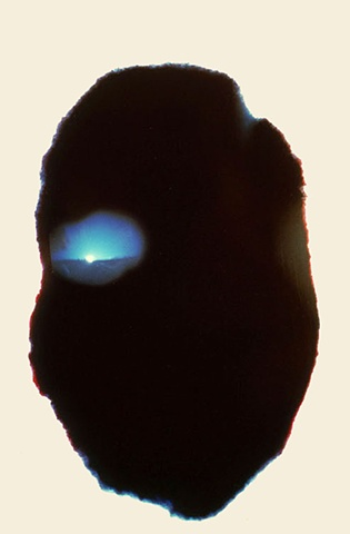 Sunset Cibachrome pinhole photograph one pinhole plaster face camera 1987