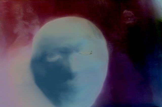 "Man in the Moon 2011 zone plate photograph archival pigment print 20""x13"""
