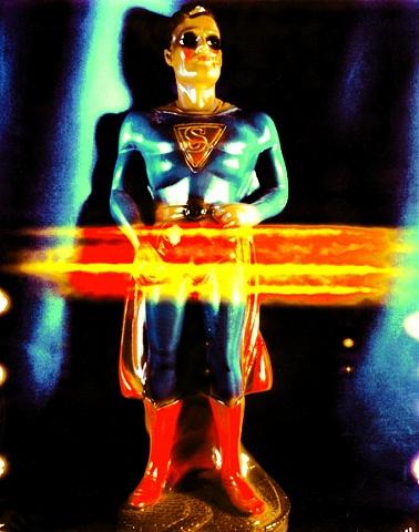 "Superman 1940s Polaroid pinhole photograph 1 pinhole camera 2005 10""x8"""