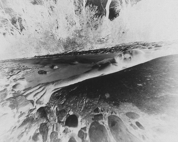 Bob White in Hot Springs (negative on paper) 1981