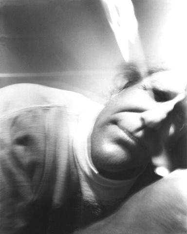 Self Portrait suitcase pinhole camera, Samos 1999