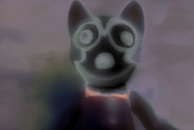 "Felix the Cat 2012 zone plate photograph archival pigment print 20""x13"""