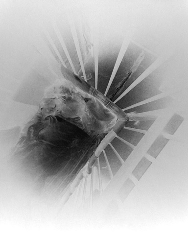 Yarian in Crib (negative on paper) 1983