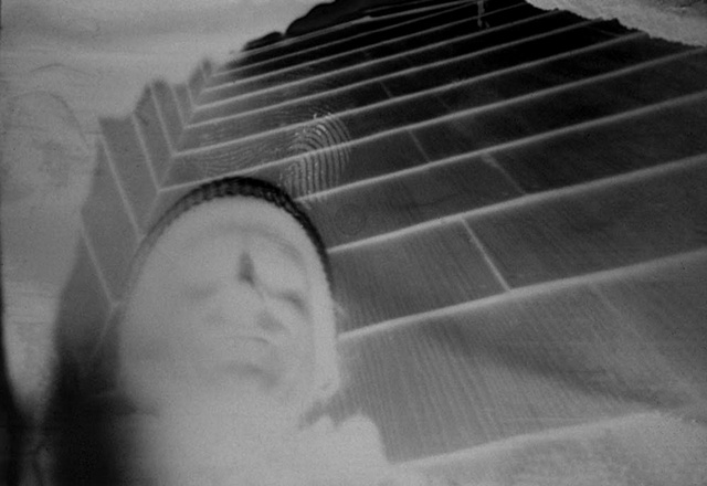 Self Portrait Red pepper pinhole camera (negative on paper) 1987
