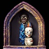 """Topsy and the Ghost of Jim Crow assemblage 19.5""""x9""""x4"""""""