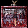 """Onward Christian Soldiers assemblage 26""""x34""""x6."""