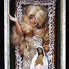 """Woman as Virgin or Whore assemblage 23""""x9""""x7.25"""""""