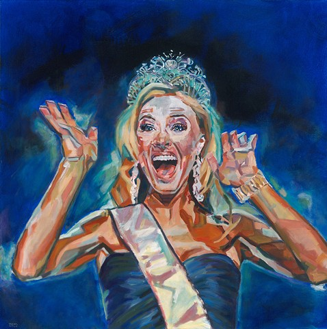 "Oil painting of Pageant winner from Daena Title's ""Pageants!"" series"