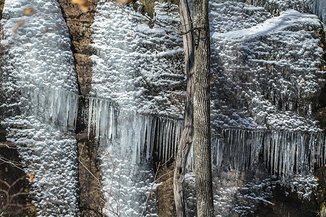 "2013 Ice Catskill Mountain Winter ""Quarry cliff""  ""ice and snow"" Photo"