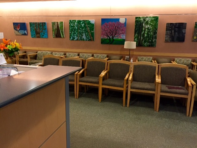 Waiting room, Yawkey Way, Massachusetts General Hospital, Boston, Massachusetts.